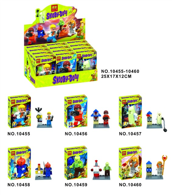 US $5 85 |Halloween 6Pcs/lot 10455 10460 Scooby Doo Fred/Shaggy Building  Block Bricks Toys Action Figure Best Children Gift-in Blocks from Toys &