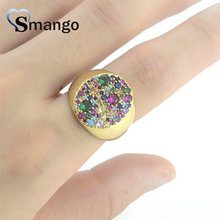 5Pieces,Women Fashion Jewelry,The Rainbow Series Big Round Rings,Gold Colors,Can Wholesale