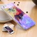 Kisscase para iphone 6 6 s plus caso bonito luz azul cristal limpar Bling Tampa Do Telefone TPU Macio À Prova de Choque Caso de Volta Magro Fundas