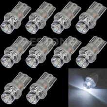Bombilla para coche, Blanco SMD LED T10 Wedge 194 168, 10 Uds.