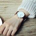 Новая Мода Простой Стиль Женщин Кожаные Женские Часы Дамы Платье Часы Женщины Досуг Элегантные Наручные Часы Подарок Груза падения