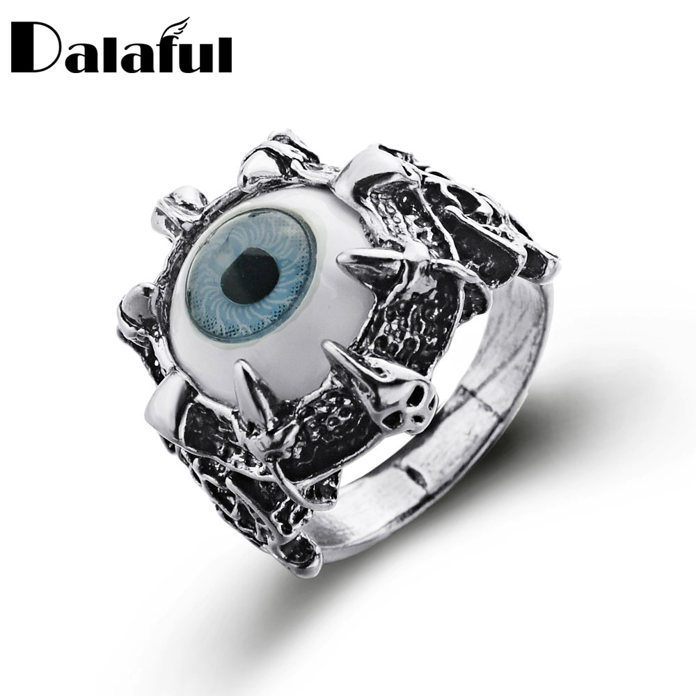 Unisex Women's Men's Punk Eyes Claw Biker Gothic Ring Storlek 8 9 10 11 J026