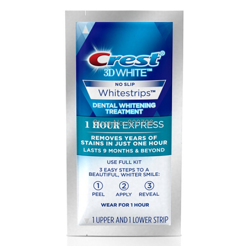US $18 52 |Crest 3D Whitening White 1 Hour Express Whitestrips Teeth  Whitening Strips 3 Treatments No Box-in Teeth Whitening from Beauty &  Health on