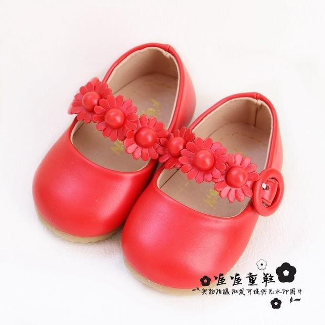 Dulces flores bebé zapatos de las muchachas suaves del niño del bebé lindos zapatos de las muchachas primeros caminante prewalkers infantiles