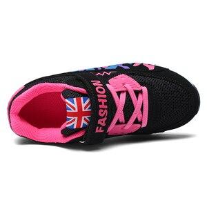 Image 3 - PINSEN 2020 enfants chaussures pour filles baskets respirant élastique chaussures décontractées mode enfants baskets fille Sport chaussures
