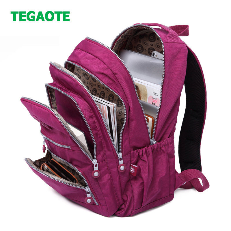 TEGAOTE Casual Original Women School Backpack For Teenage Girls Mochila Escolar Travel Bag Bagpack For Laptop Sac A Dos Keychain