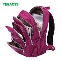 TEGAOTE Casual Original Women School Backpack for Teenage Girls Mochila Escolar Travel Bag Bagpack for Laptop Sac A Dos Keychain