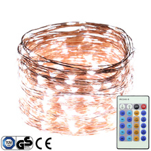 30M 300LEDs Copper Wire Dimmable Flash White LED String Lights Starry Lights Christmas Fairy lights+UL CE Certified Adapter