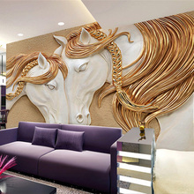 Modern Bohemia 3D wallpaper stereo Relief horse Photo