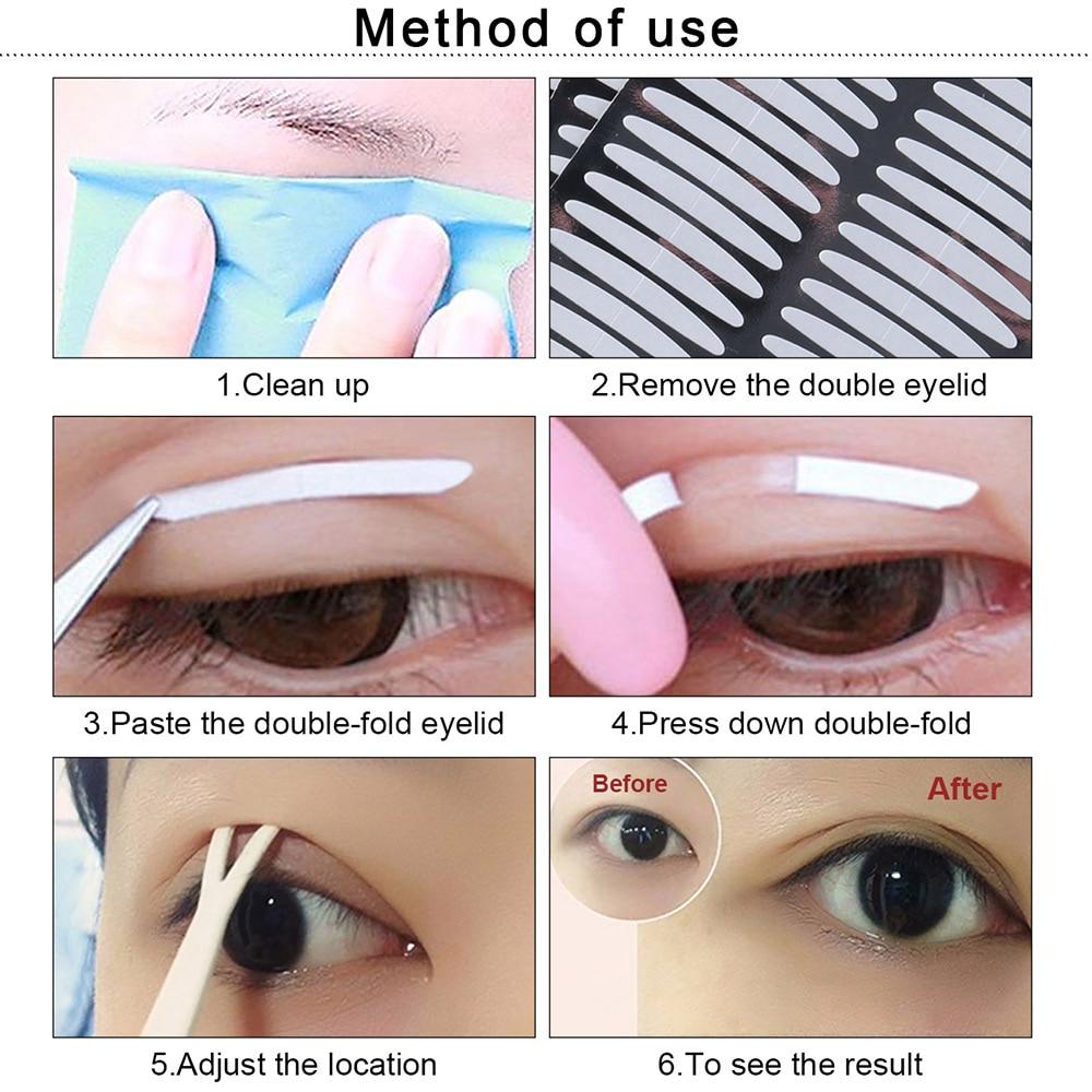 LAMEILA 100Pair/SET Double Eyelid Tape Stripe Big Eyes