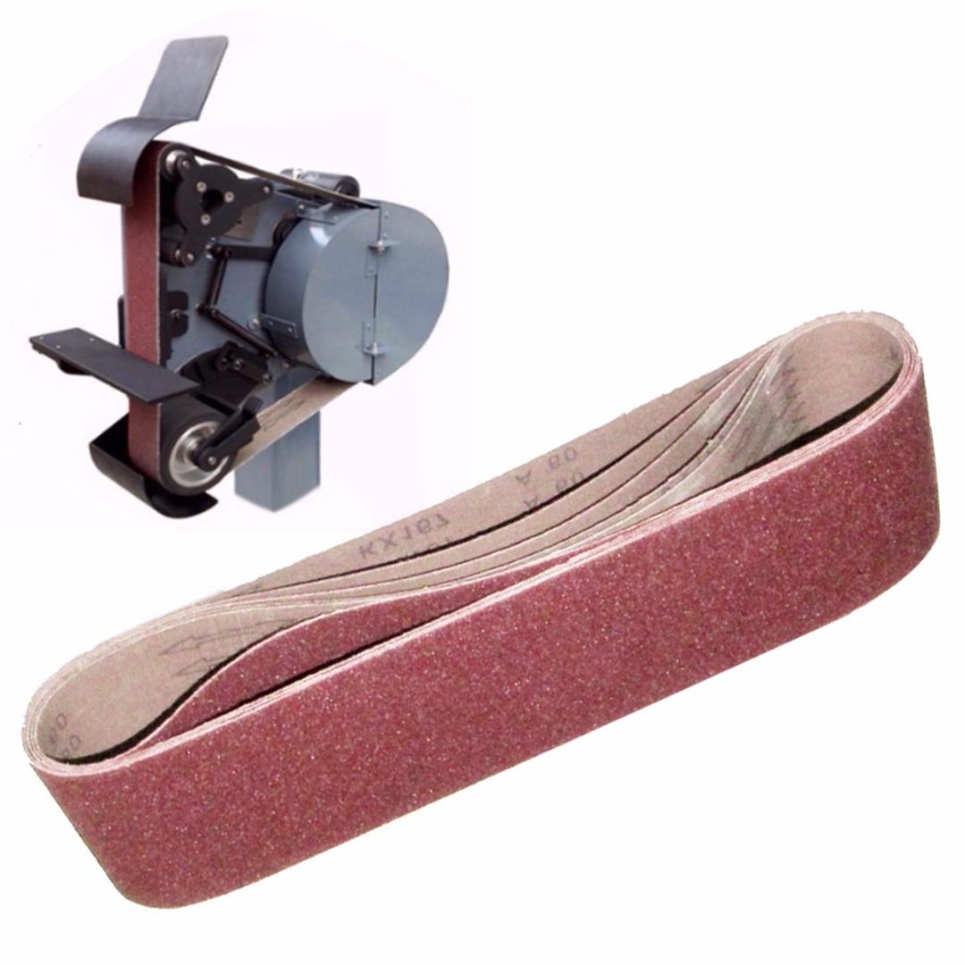 4Pcs Power Dremel Accessories 100x915mm Abrasive Sanding Grit 40 60 80 120 Aluminium Oxide Sanding Belts
