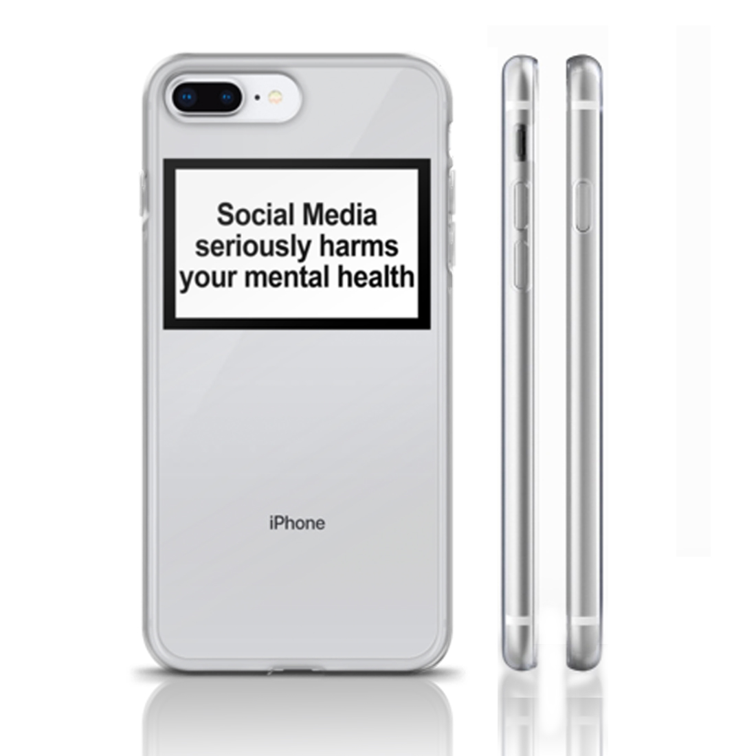Social Media Seriously Harms Your Mental Health soft clear Phone Case Cover For iphone 11Pro MAX 6 6s 7 8plus 5s X XS XR XSMax image