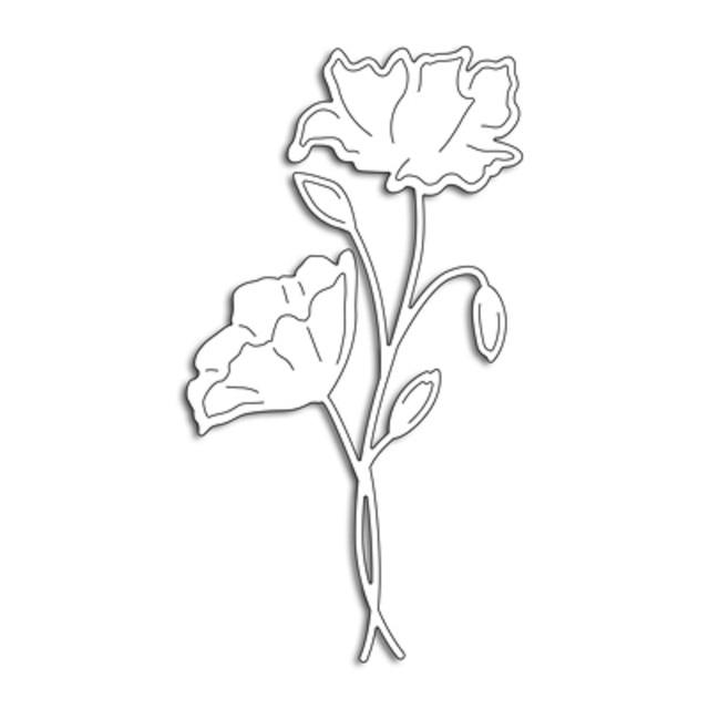 Bi fujian metal cutting dies tall poppy flower diy scrapbook paper bi fujian metal cutting dies tall poppy flower diy scrapbook paper craft card album gift present mightylinksfo