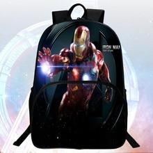 Neue stil 16-zoll druck hero iron man schultasche avengers kinder taschen kinder rucksack jungen schule rucksäcke studenten mochila
