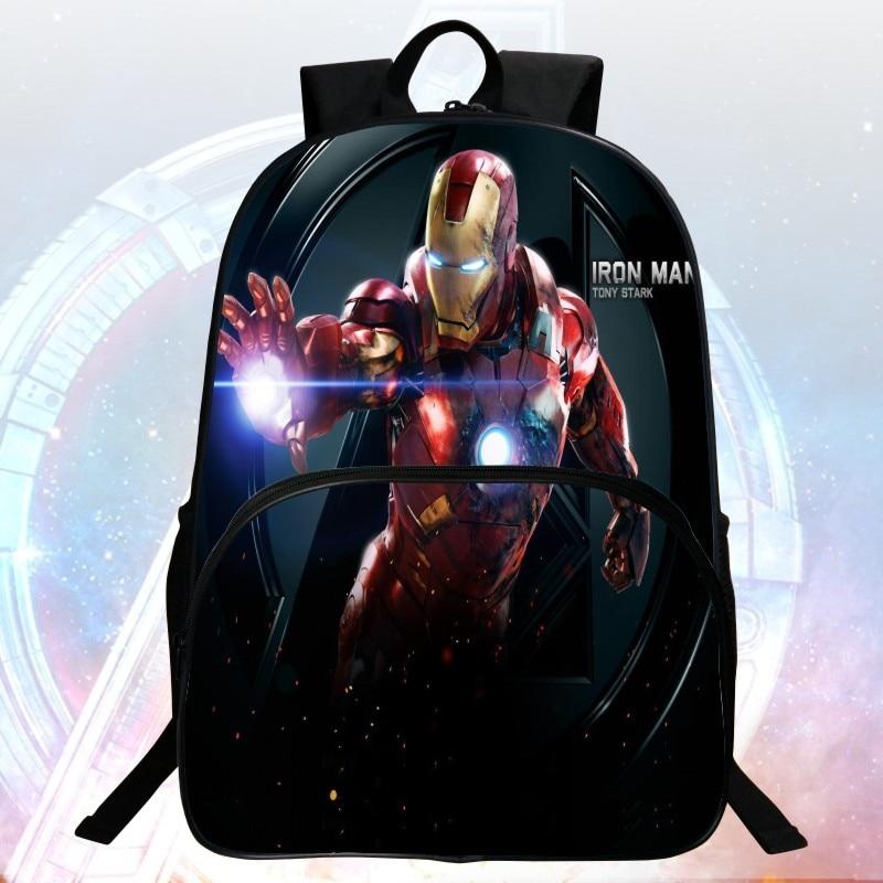 New Style 16 inch Printing Hero Iron Man School Bag Avengers font b Kids b font