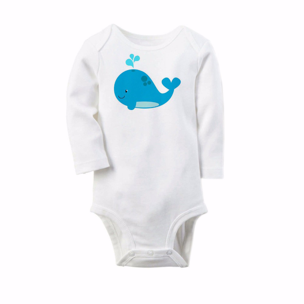 Cute Baby Romper Whale Printed Long Sleeve Cotton Winter Baby Girls Boys Wear Jumpsuits Clothing Set Body Suits For Newborn newborn winter autumn baby rompers baby clothing for girls boys cotton baby romper long sleeve baby girl clothing jumpsuits