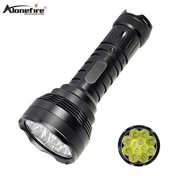 AloneFire 12T6 XML T6 Ultra Brillante Más Potente Linterna LED 18650 Portátil De Alta Potencia Linterna Táctica Caza Camping