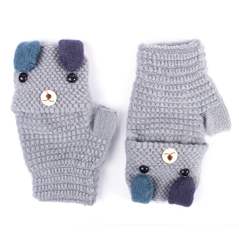 New Style Toddler Baby Cute Thicken Stitching Hot Girls Boys Of Winter Warm Straps Gloves Wholesale and Drop Shipping