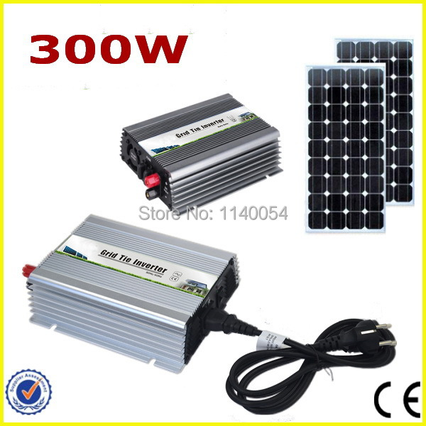300W 18V MPPT Grid Tie Micro Inverter, Power Inverter 300W DC10.5-28V to AC90-140V or 190-260V Pure Sine Wave Output solar micro inverters ip65 waterproof dc22 50v input to ac output 80 160v 180 260v 300w