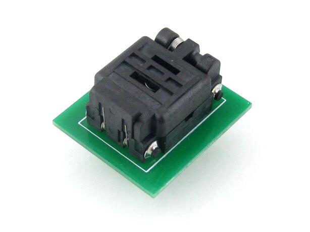 QFN8 à DIP8 (C) # MLF8 MLP8 Plastronics QFN IC adaptateur de programmation Test rodage prise 8*6mm 1.3 pas + livraison gratuite