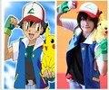Тренировочный костюм Pokemon Ash Ketchum для костюмированной вечеринки; куртка + перчатки + шапка - фото