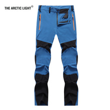 THE ARCTIC LIGHT Hunting Pants Men Climbing Camping Trekking Soft shell Winter Waterproof Warmth Radiation Protection Autumn