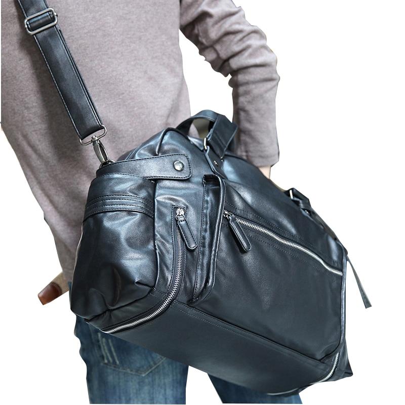 2019 PU odinis krepšys laisvalaikio vyriškos rankinės karvės odos vyriškos kojinės krepšys vyrų kelionės krepšiai nešiojamas portfelis krepšys žmogui karštas