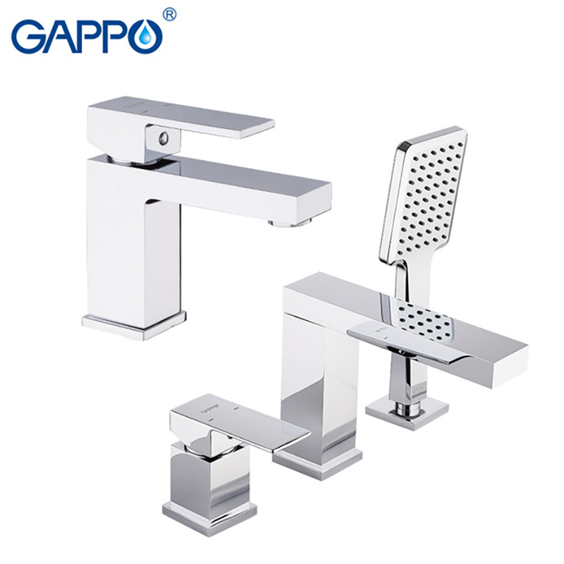 GAPPO bathtub Faucets brass waterfall faucet mixer deck Basin faucet basin mixer tap bathroom brass water