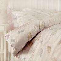 Милые бабочки beding наборы, две полный Дети Шелковое хлопковые удобные домашний текстиль постельное белье наволочки пододеяльник
