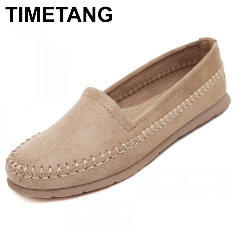 TIMETANG New fashion soft women Loafers Platform Lovely girl flat shoes Slip on College style Shoes 4 colors driving shoes C149 siketu sweet bowknot flat shoes soft bottom casual shallow mouth purple pink suede flats slip on loafers for women size 35 40
