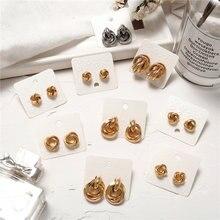 Женские винтажные серьги гвоздики if you золотистые металлические