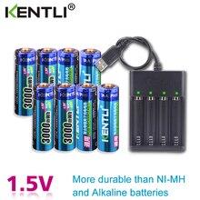 8pcs 1.5v 3000mWh no memory effect aa rechargeable Li-polymer li-ion polymer lithium battery + 4 slots USB Charger kentli 8pcs 1 5v 3000mwh aa rechargeable li polymer li ion polymer lithium battery usb charger