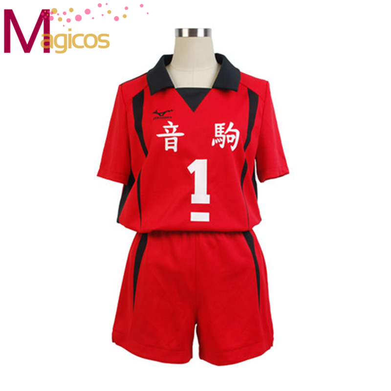 Anime Haikyuu Nekoma High School Uniform Kuroo Tetsurou / kozumekenma Jersey Cosplay Costume Sportswear