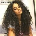 Produtos de Cabelo Rosa barato Peruano Virgem Cabelo Kinky Curly Weave Extensão Do Cabelo Humano 3 Pacotes 10A Virgem Peruana Cabelo Encaracolado