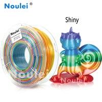 Noulei 1kg 3D Printer Filament Silk rainbow Texture Feeling Silky Rich Luster PLA random send rainbow color 3d Printing Material
