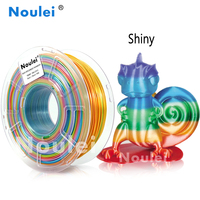 Noulei 1kg 3D Printer Filament Silk rainbow Texture Feeling Silky Rich Luster PLA random send rainbow color 3d Printing Material