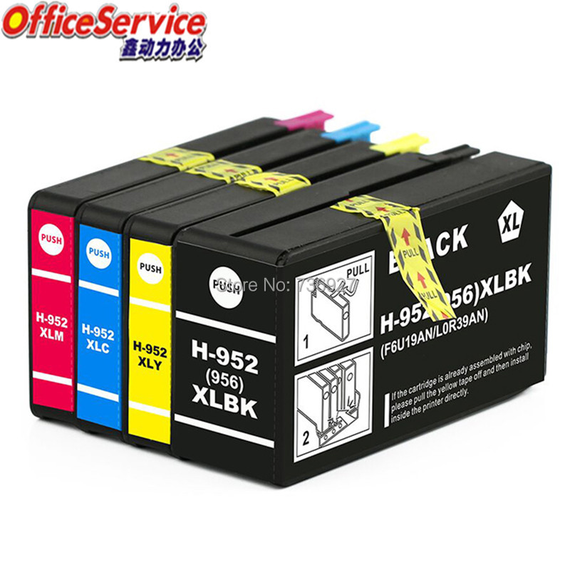 Compatible Ink Cartridge For HP952 HP956 952 <font><b>952Xl</b></font> , suit for Officejet Pro 8210 8216 8702 8710 8715 All-in-One Printer image