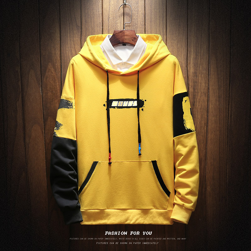 Pullover Streetwear Sweatshirt Mens Spring Hip-Hop Autumn Fashion Plus Punk Asian-Size