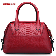 ZOOLER Genuine leather bag ladies 2017 crocodile pattern Women Shoulder bags handbags women famous brand designer Bags #T-6198