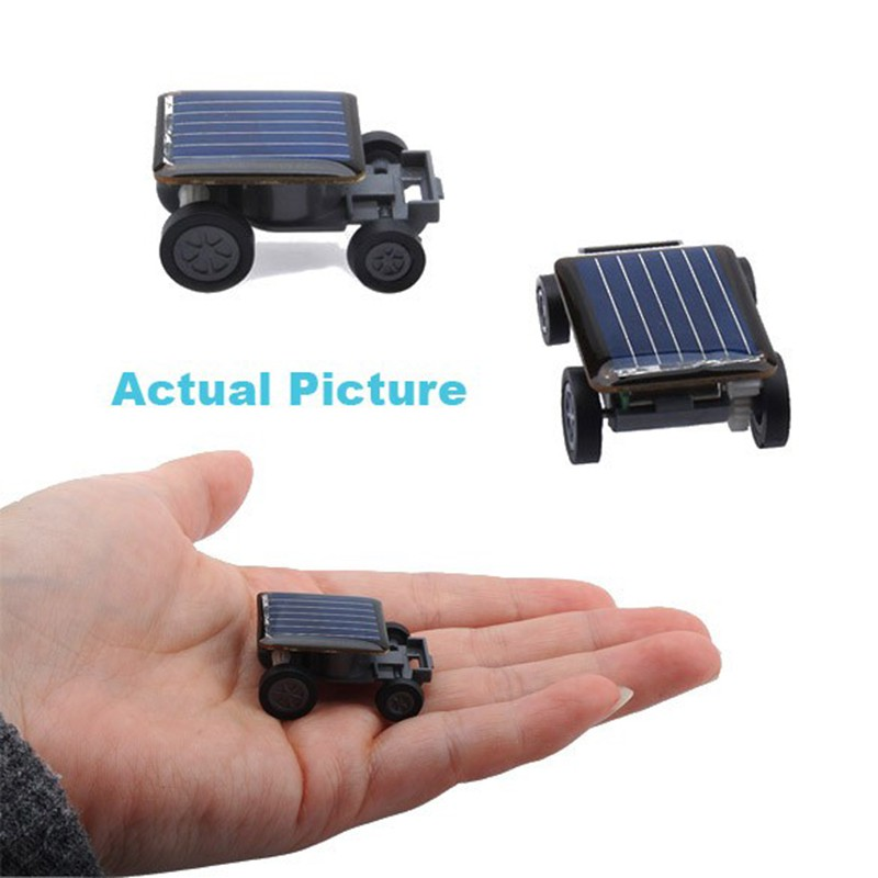 New Racer Educational Gadget Children Kid's Toys Smallest Mini Car Solar Power Toy Car
