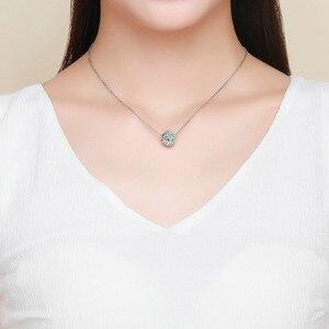 Image 5 - INBEAUT 100% Plata de Ley 925 auténtica OCéANO AZUL agua copo de nieve tallada perlas encanto marca pulsera de joyería
