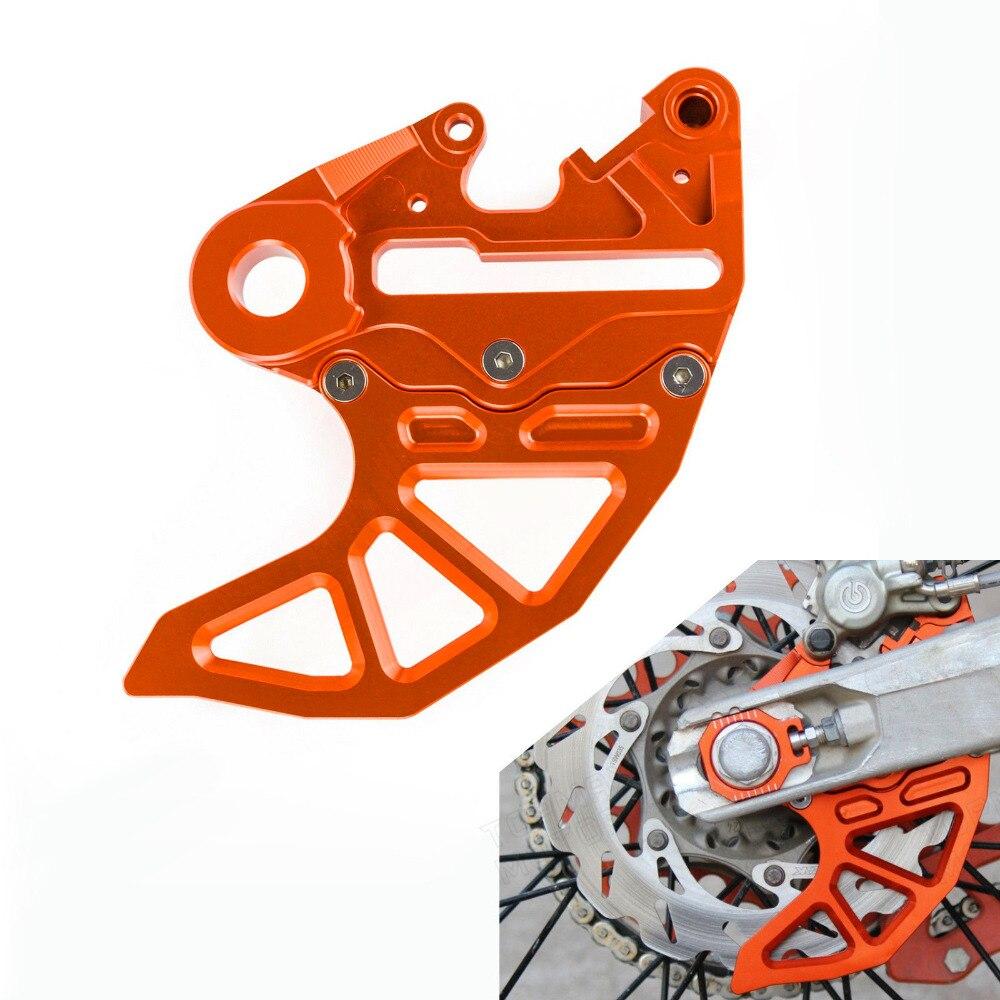 Orange/noir aluminium moto CNC Billet frein arrière garde de disque s'adapte pour KTM 125-530 SX/SX-F 2004-2012 livraison gratuite D35