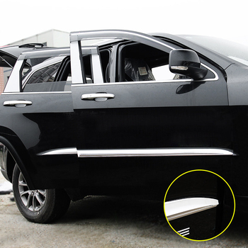 Car Styling 4PCS ABS Chromed Side Car Body Molding Cover Trim For Jeep Grand Cherokee 2014 2015 2016 2017 2018