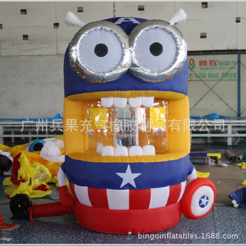 inflatable  captain America despicable me  minion cartoon money machine for speed promotion inflatable games despicable me unicorn minion stuffed