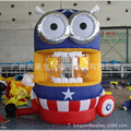 inflatable  captain America despicable me  minion cartoon money machine for speed promotion inflatable games