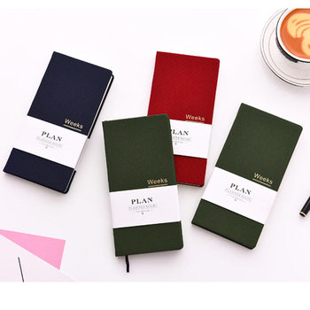 Yiwi Notebook and Journal Undated Weekly Monthly Planner Organizer Agenda for Full Year Daily Schedule Notepad Stationery image