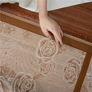 Image 3 - Vescovo Cool summer senior mattress Double sided folding wrapping1.3/1.5/1.8/2.0m 100% Pure natural bamboo mat