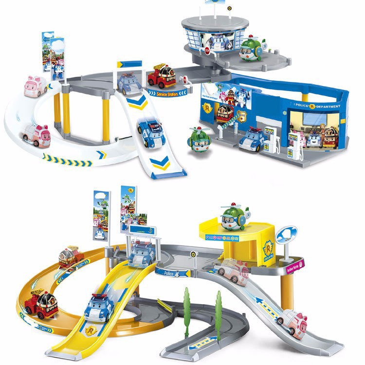 1-Parking-Track-2-pcs-Robocar-Poly-Transformation-Robot-car-Poly-Theme-Parking-Action-Figure-Thomas