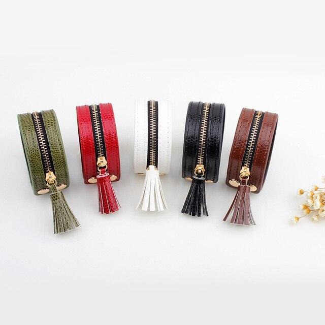 браслеты и браслеты janeyacy кожаные на молнии модные женские фотография