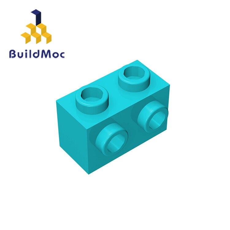 BuildMOC Compatible Assembles Particles 11211 1x2 For Building Blocks DIY LOGO Educational High-Tech Spare Toys